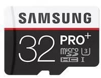 Карта памяти Samsung microSDHC PRO PLUS 32Gb +SD adapter