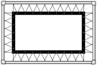 Полотно на люверсах Corvus (4:3) 386х294 (Z 366х274/3 Белое матовое (PW)-PS/S)