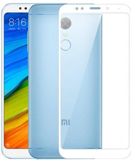 Защитное стекло 2D для Xiaomi Redmi 5 (С белой рамкой)