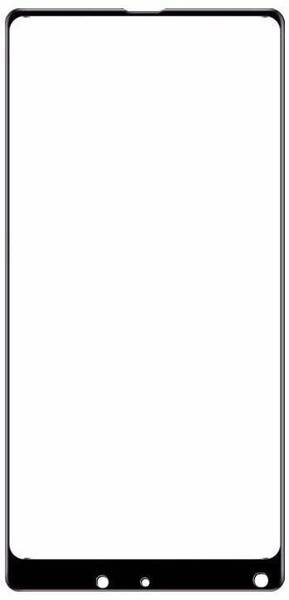 Защитное стекло 2D для Xiaomi Mi Mix 2 (С черной рамкой)