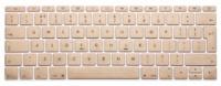 Защитная cиликоновая накладка на клавиатуру Crystal Guard для MacBook 12 (Золотой)