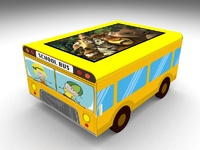 "Интерактивный стол Автобус кубик 21.5""Full HD 4 касания"