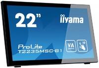 """Интерактивный 22"""" сенсорный широкоформатный монитор Iiyama T2235MSC-B1"""