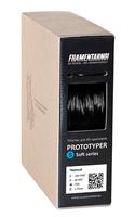Катушка пластика Filamentarno 1.75 мм. Prototyper S-soft чёрный непрозрачный 750 гр.