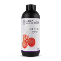 Фотополимер HARZ LABS Dental Cast для 3D принтеров LCD/DLP 0.5 л Красный
