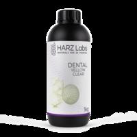 Фотополимер HARZ LABS Dental Yellow Clear для 3D принтеров LCD/DLP 1 л