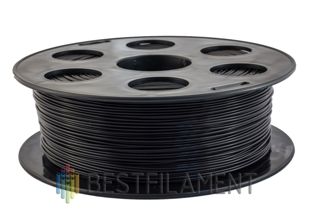 PLA пластик Bestfilament 1.75 мм для 3D-принтеров, 1 кг черный