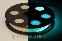 Светящийся в темноте PLA пластик Bestfilament 1.75 мм для 3D-принтеров, 0,5 кг, бирюзовый