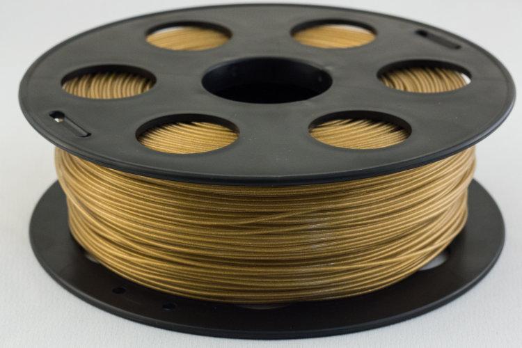 PLA пластик Bestfilament 1.75 мм для 3D-принтеров 1 кг, золотистый металик