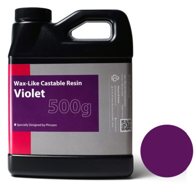 Фотополимер Phrozen Wax-like Castable Violet, фиолетовый (0,5 кг)